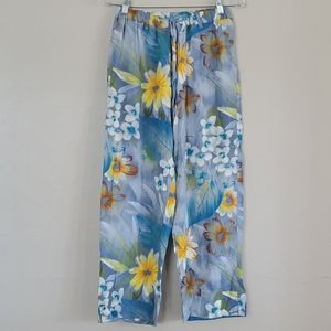 Jams World Moon Daisy Floral Print Pants